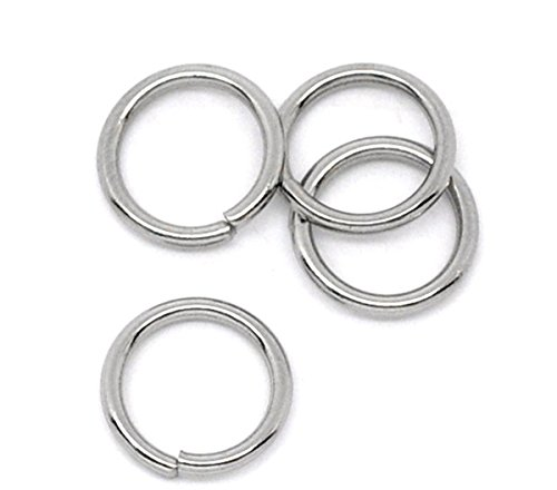 VALYRIA 100-Piece 8mm Stainless Steel Open Jump Rings Finding,18-Gauge (Rings 8mm Open Jump)