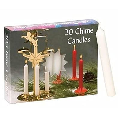 Party Chime Candles - 2 Boxes of 20 Each, White: Home Improvement
