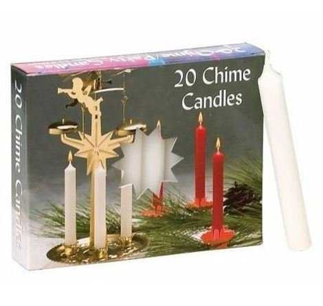 Biedermann & Sons Chime/party Candles - White- 2 Boxes of 20 Each by Biedermann & Sons Chime/party Candles - White- 2 Boxes of 20 Each