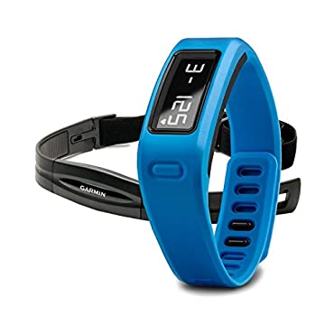 Garmin vívofit Fitness Band Blue Bundle (Includes Heart Rate Monitor)