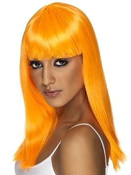Smiffys Peluca naranja con glamour para mujer