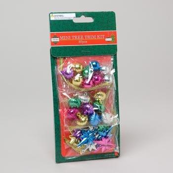 Mini Christmas Tree Trim Kit 30 Pc. Case Pack 48