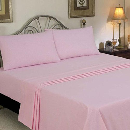 - Olympic Queen Size,Pink Solid 500 Tc Sheet Set With 66