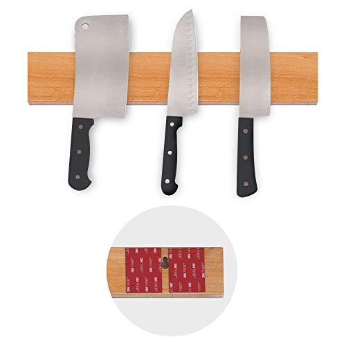 Powerful Magnetic Knife Strip No Screws, adhesive mount (18'' Natrural) ()