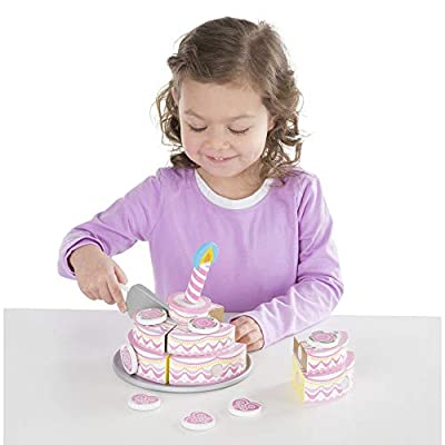 Melissa & Doug Triple - Layer Party Cake: Melissa & Doug: Toys & Games
