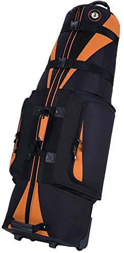 Golf Travel Bags Unisex Caravan 3.0 Bag, Black with Tangerine Trim