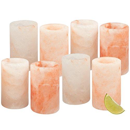 Himalayan Salt Shot Glasses, Set of 8 All-Natural FDA Approved 3 Pink Salt Glasses -Tequila Shot Glasses (Set of 8)