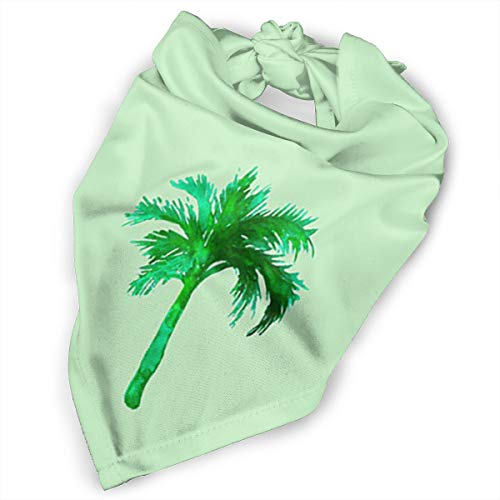 Pet Scarf Dog Bandana Bibs Triangle Head Scarfs Palm Tree Clipart Accessories for Cats Baby Puppy]()