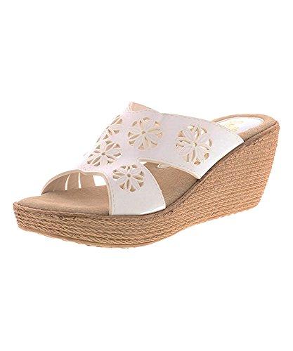 Sandalo Con Zeppa Indica Da Donna Sbicca Bianca