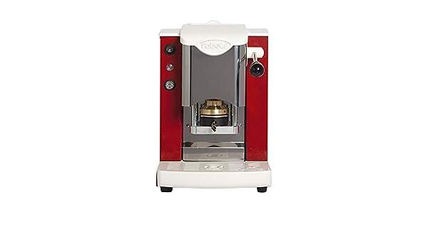 FABER - SLOT - Máquina de café de monodosis de papel ese 44 mm, inoxidable, color rojo: Amazon.es: Hogar