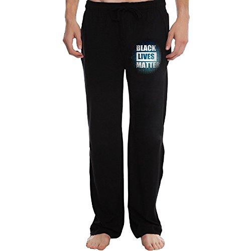Price comparison product image ZOENA New Black Lives Matter Sweatpants For Men Black Size L