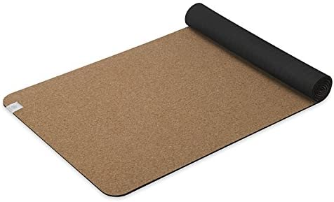 Gaiam Cork Yoga Mat | Natural Sustainable Cork Resists Germs and Odor | Non-Toxic TPE Rubber Backing | Great for Hot Yoga, Pilates (68-Inch x 24-Inch x 5mm Thick)
