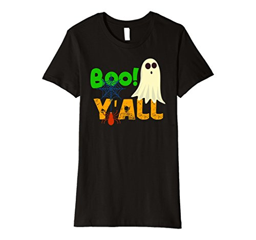 Boo Monsters Inc Halloween Costume (Womens Boo Y'All fun And Cute Halloween T-Shirt Gift Small Black)