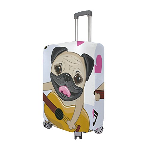 Cute Dog Puppy Music Hearts Love Suitcase Luggage Cover Protector for Travel Kids Men Women by ALAZA (Image #1)'