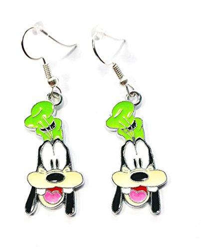 Dangle Earrings Disney (Disney's Cute GOOFY Character Metal Drop Dangle Hook Pierced Earrings With Gift Box)