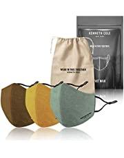 Kenneth Cole Hemp Face Masks - A Natural Solution To Fight Pollution - 3pack