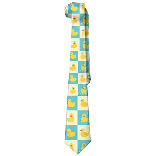 - Men's Funny Rubber Duck Fashion Neckties Skinny Ties