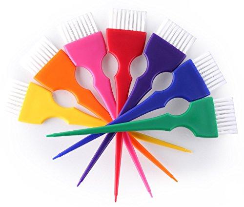 Hair Dye Brush Kit Coloring Tint Applicator Brushes Set-Rainbow Colors