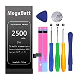 MegaBatt Battery for iPhone 6 only, 2500mAh large capacity 0 cycle...