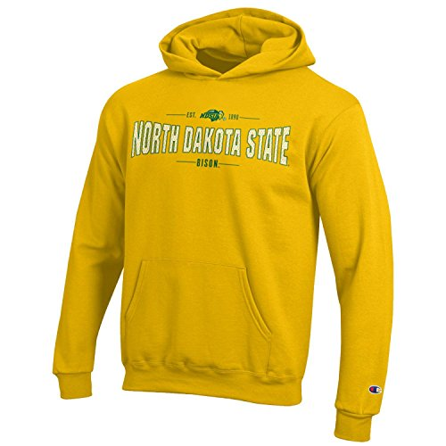 Collegiate Hoodie Sweatshirt - Champion NCAA Youth Long Sleeve Fleece Hoodie Boy's Collegiate Sweatshirt North Dakota State Bison Medium