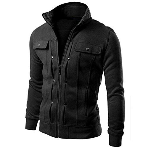 577Loby Multi Button Hoodies Men Fashion Tracksuit Male Sweatshirt Mens Hoodie