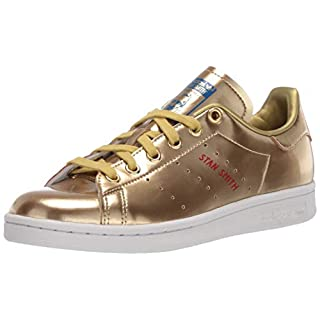 adidas Originals mens Stan Smith Sneaker, Crystal White/Scarlet/Lush Blue, 8 US
