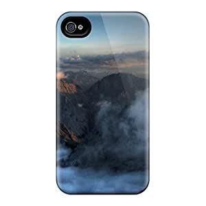 High Quality VnYuWfe2636JDwXM Barren Mountain Peaks In The Clouds Tpu Case For Iphone 4/4s by Maris's Diary