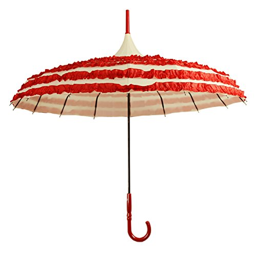 Kung Fu Smith Retro Women Pagoda Parasol Umbrella, Sun UV Protection Stick Rain Umbrella for Girls, Purple