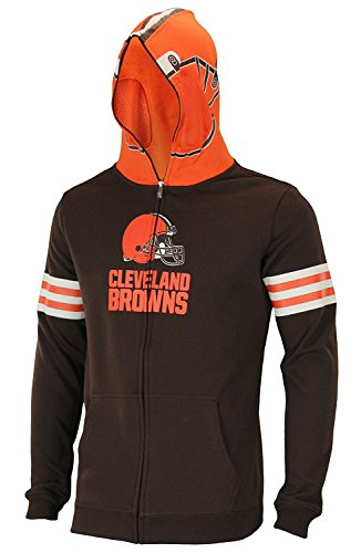 Outerstuff NFL Big Boys Youth (8-18) Full Zip Helmet Masked Hoodie, Cleveland Browns, X-Large (18) ()