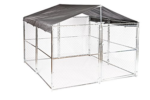 Dog Kennel Cover - WeatherGuard Extra Large All Season Dog Run Cover & Roof - Perfect Fit for All 10ft. X 10ft. Outdoor Cages and Pens (10ft. X 10ft) (Jewett Cameron Weatherguard Kennel Cover)
