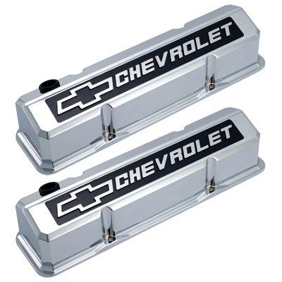 Gm Performance Parts Valve Cover (GM Performance Chrome 141-922 SB Chevrolet Bowtie Slant Valve Covers Chrome)