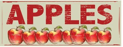 Apples Metal Sign, Baskets, Red Apples, Country Decor, Kitchen Decor