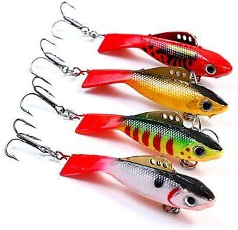 TY 1 pcs pesca señuelos duro cebo verde blanco amarillo rojo G/OZ ...