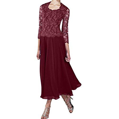 2017 La Weinrot Rock Abschlussballkleider Herrlich Chiffon Langes Partykleider Braut Abendkleider A Marie Linie Ew4qxSwa