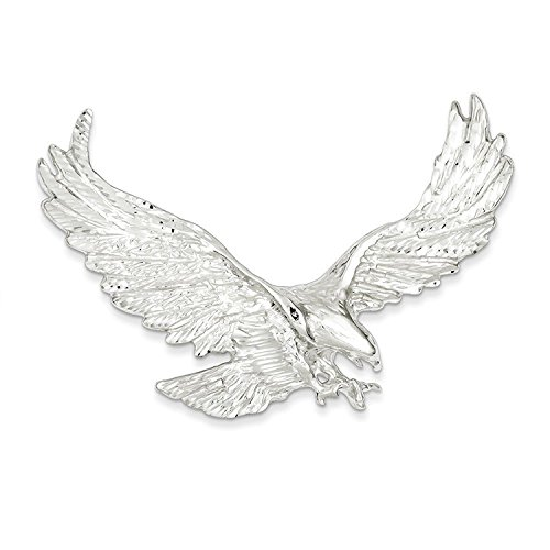 Sterling Solid Silver Eagle Charm (Solid Sterling Silver Eagle Charm Pendant)