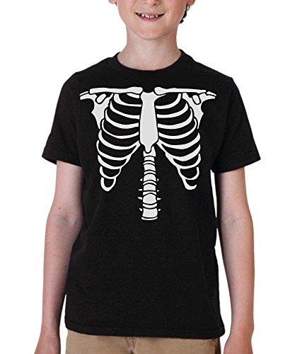 Big Boys' Skeleton Costume T-Shirt Medium