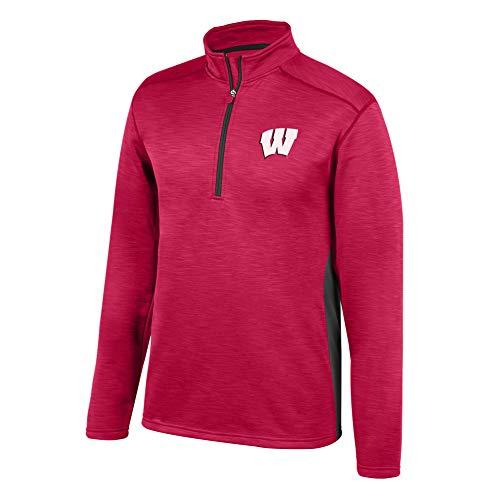 Top of the World NCAA Men's Ohio State Buckeyes Poly Cross Dye Next Calibur Half Zip True Red XX Large