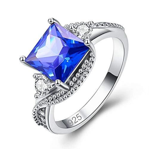 6 Jindamanee Shop Mystic Topaz Sapphire Zircon Silver Womens Ring Jewelry Gift Size 6-9 NJ343.345