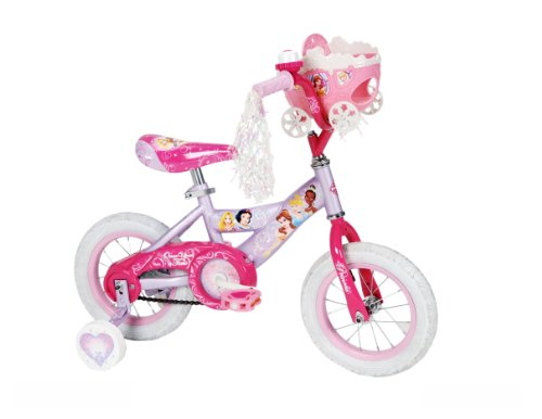 Disney Princess Bicycle - Huffy Girl's Disney Princess Bike, Soft Pink/Pink, 12-Inch