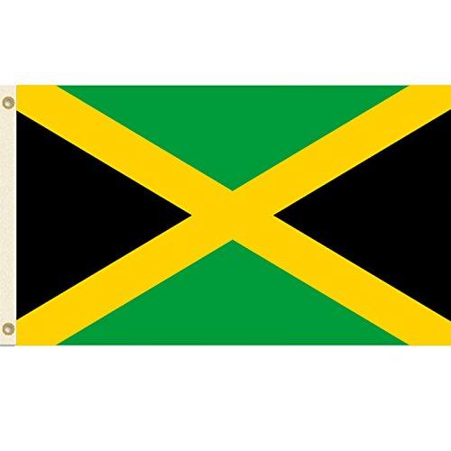 3x5 Jamaica Flag 3' x 5' Jamaican Banner Pennant Indoor Outd