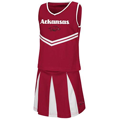 - Colosseum Youth NCAA-Girls Cheer Set-Arkansas Razorbacks-Youth Small