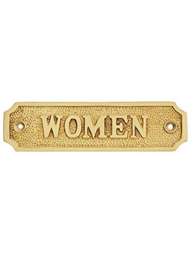 [해외]Cast BrassWomen Sign in Polished Brass / Cast BrassWomen Sign in Polished Brass