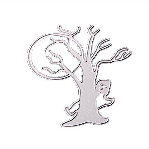 MOKO-PP Happy Halloween Metal Cutting Dies Stencils Scrapbooking Embossing DIY Crafts (B)