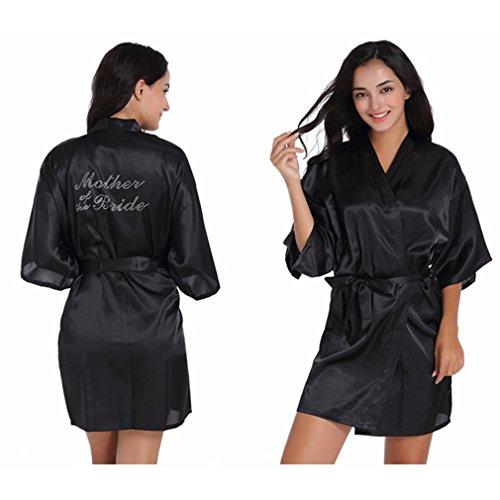 Vestaglie Caldo Sposo e e WYSMOL Camicie da Notte Madre Dello Nero Pigiami Kimono a Stampa qXpEqZYUxw