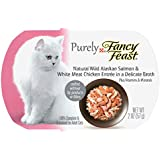 Purina Fancy Feast Purely Natural Wild Alaskan Salmon & White Meat Chicken Entree Adult Wet Cat Food - (10) 2 oz. Trays