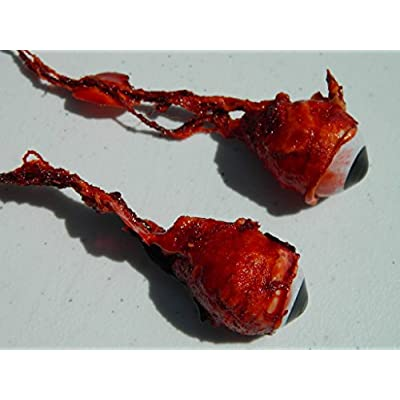 Pair of Realistic Life Size Bloody Ripped Out Eyeballs - Halloween Props - FB01: Toys & Games