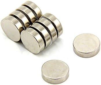 First4Magneten F15410 15 mm diameter x 4 mm dikke N35 neodymium magneet 28 kg aantrekkingskracht 1 stuks per verpakking dia dik 10 stuks