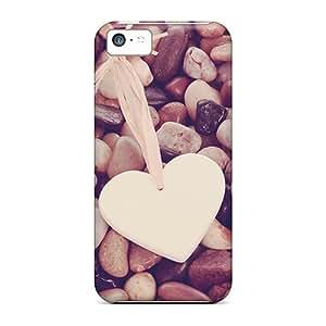 Hot Design Premium NbiQSFM2141Ofotu Tpu Case Cover Iphone 5c Protection Case(hearts Pebbles)