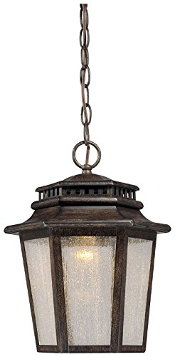 Minka Lavery Outdoor Pendant Lighting 8274-A357-L Wickford Bay Cast Aluminum LED Ceiling Lighting for Patio, Iron