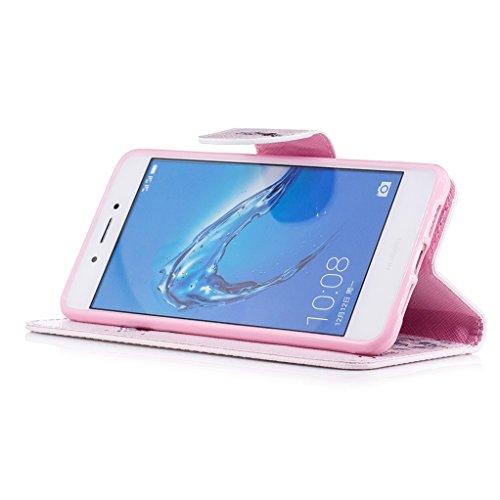 Trumpshop Smartphone Carcasa Funda Protección para Huawei Honor 6C + Mariposas Verdes + PU Cuero Caja Protector Billetera con Cierre magnético [No compatible con Honor 6A y 6X] Jirafa